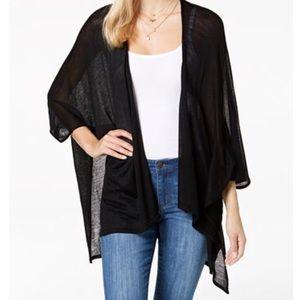 Black dressy knit wrap